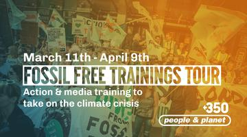 Fossil Free Trainings Tour: NEWCASTLE
