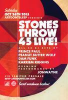 ArtDontSleep presents: Stones Throw 45 Live