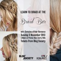 Hair Romance & Blog Society Braid Bar