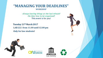 """Managing Your Deadlines"" Workshop"
