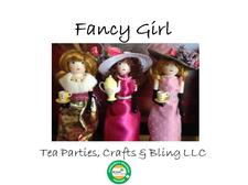 Fancy Girl Tea Parties, Crafts and Bling LLC logo