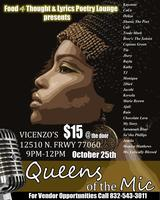 "Food 4 Thought & Lyrics Poetry Lounge Presents ""Queens..."