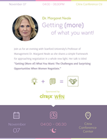 Get (more) of what you want! - an evening with Dr...