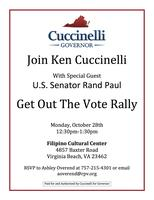 Rally With Ken Cuccinelli and Senator Rand Paul