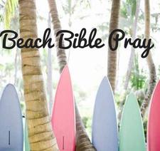 Beach, Bible, Pray logo