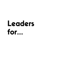 Leaders for... logo