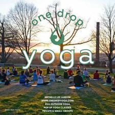 Michelle Lee Landon of One Drop Yoga logo