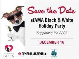 sfAMA Black & White Holiday Party – Supporting the SPCA