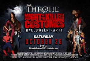 Throne Night of the Killer Costumes Sat Oct 26