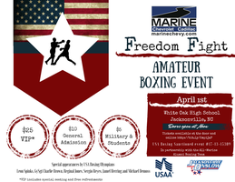Marine Chevy Freedom Fight Amateur Boxing Event