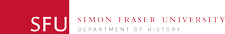 SFU Department of History logo