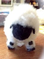 Valais Blacknose 3-D Needlefelted Sheep - Friday
