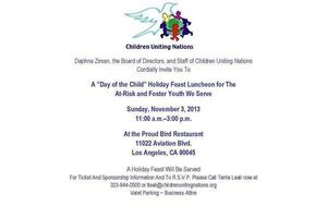 """""""Day of the Child"""" Holiday Feast"""