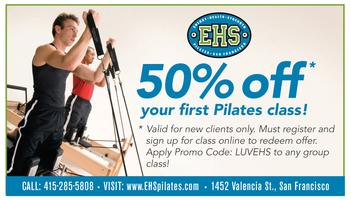 50% off your 1st Pilates Group Class