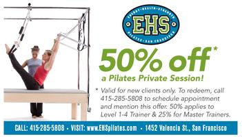 50% off your 1st Pilates Private Session
