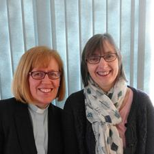 Rev Cathy Gale and Heather Marshall logo