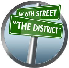 """West 6 """"The District"""" logo"""