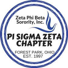Zeta Phi Beta Sorority, Inc. Pi Sigma Zeta Chapter Forest Park, Ohio logo