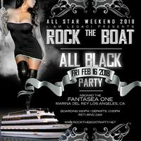 ROCK THE BOAT ALL STAR WEEKEND 2018 ALL BLACK YACHT PARTY HOSTED BY POOCH HALL