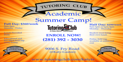 Tutoring Club: Academic Summer Camp