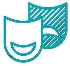 Grand Arts Thespians logo