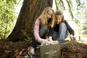 Geocaching with REI and the San Mateo County Parks...