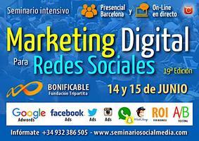 Seminario de Marketing Digital para Redes Sociales - Barcelona (Junio 2017)