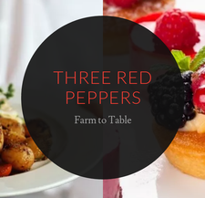 Three Red Peppers Catering logo