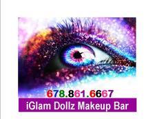 iGlam Dollz Makeup Bar logo