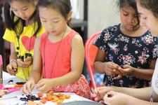 Family Cooking Classes by Allergic to Salad at Queens Botanical Garden logo