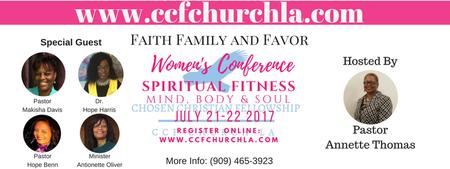 """Faith, Family & Favor Women's Conference """"Spiritual..."""
