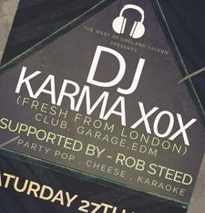 DJ Karma XOX & Rob Steed logo