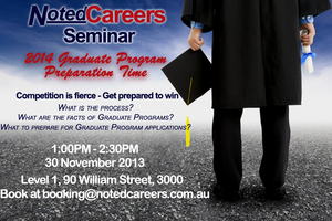 NotedCareers Seminar: 2014 Graduate Program...