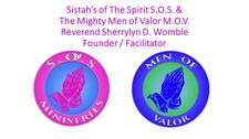 Sistah's of The Spirit S.O.S. Ministries and The Mighty Men of Valor logo