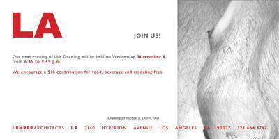 November 6, 2013 Life Drawing at LEHRER ARCHITECTS LA