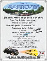 High Beam Car Show -- 11th Annual at Utica UMC