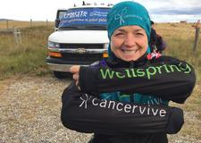 Christine Reese, GM for Cancervive Foundation of Alberta logo