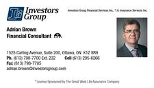 Adrian Brown, Investors Group Financial Services Inc. logo