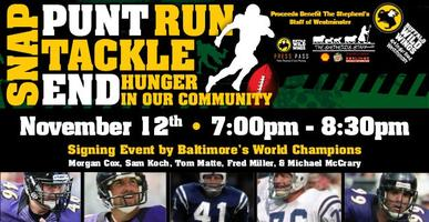 SNAP. PUNT. RUN. TACKLE & END hunger w/Baltimore World...
