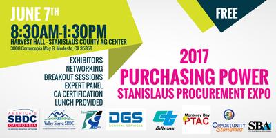 "Stanislaus Procurement Expo - ""Purchasing Power 2017"""