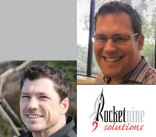 Rocket Nine Solutions' Brett Palmer and Scott Dunn logo