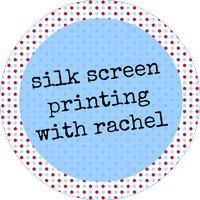 Silk screen printing with Rachel