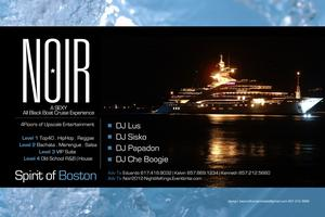 NOIR 2012: UPSCALE ALL BLACK BOAT CRUISE