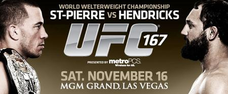 St Pierre vs Hendricks | UFC167 LIVE 8PM