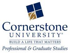 Cornerstone University PGS logo