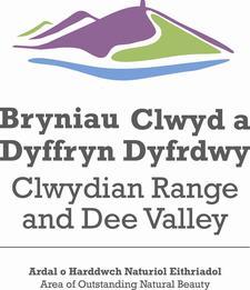 Ardal o Harddwch Naturiol Eithriadol Bryniau Clwyd a Dyffryn Dyfrdwy / Clwydian Range and Dee Valley Area of Outstanding Natural Beauty logo
