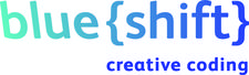 blue{shift} creative coding logo