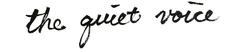The Quiet Voice logo