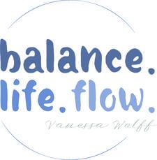 balance. life. flow.  logo