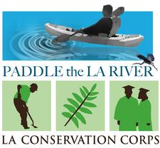 Los Angeles Conservation Corps - Paddle the LA River logo